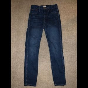 Madewell high rise skinny ankle jeans size 24